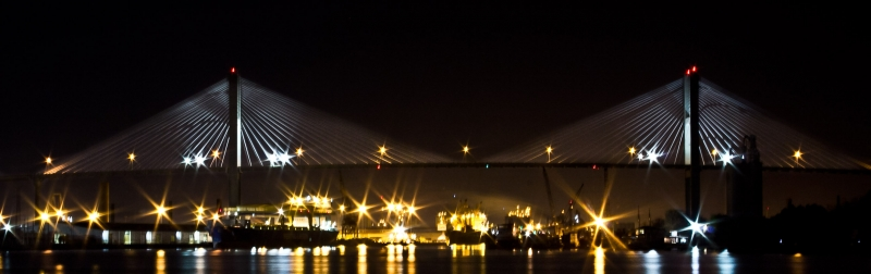 Savannah Bridge At Night