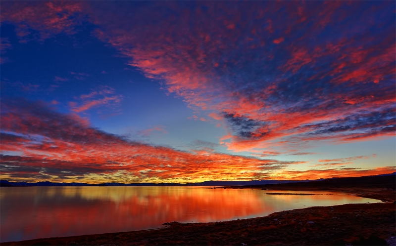 A Colorful Sunrise Over Mono Lake