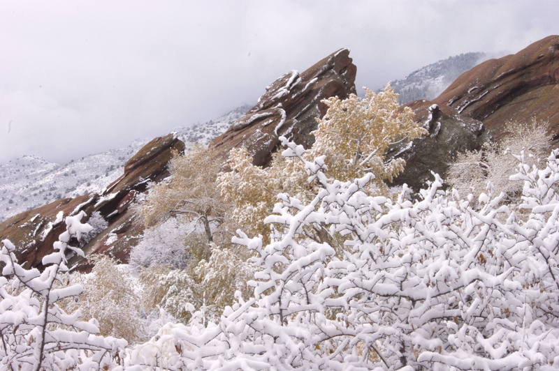 Red Rocks Park In Snow