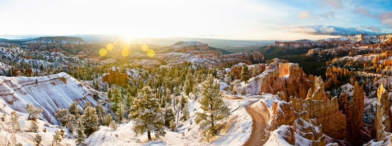 Amphitheater Sunrise Panorama – Bryce Canyon National Park, Utah