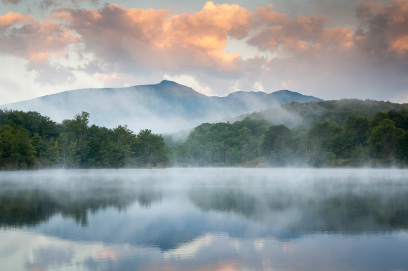 Grandfather Mountain Sunrise Reflections