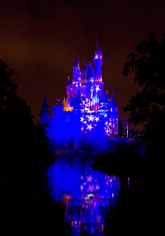 Castle With Reflection At Disney World
