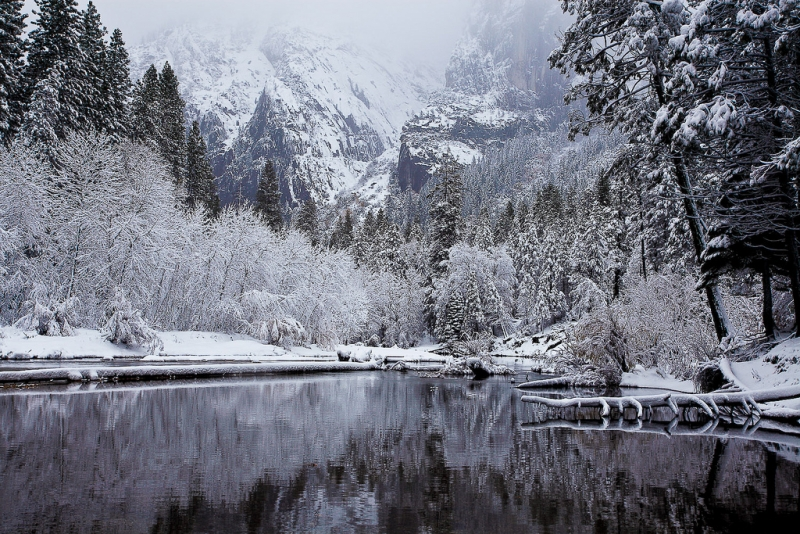 Wintry Cathedral Beach (yosemite)