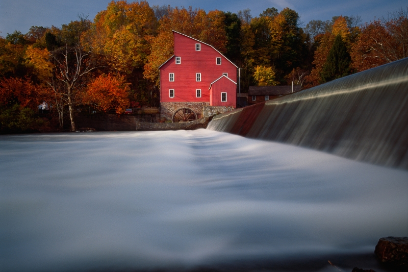 Fall Morning At The Historic Red Mill, Clinton, New Jersey