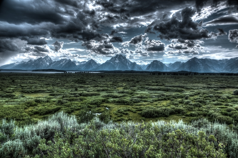 Storm Brewing In Teton Range