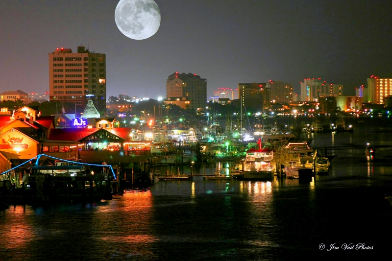 """moonlight Over Destin Harbor"""