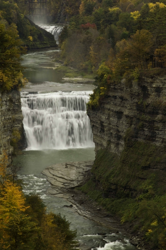 Upper & Middle Falls, Letchworth State Park, Ny