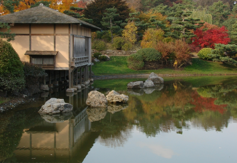 Japanese Tea House, Chicago Botanic Garden