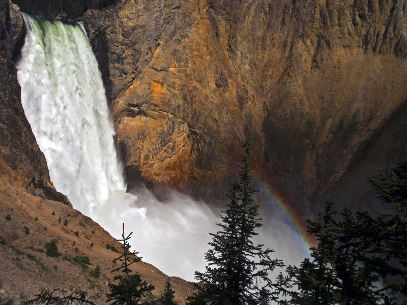 Powerful Falls W/ Grace Of A Rainbow