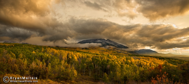 Beckwith Peaks Storm At Sunset