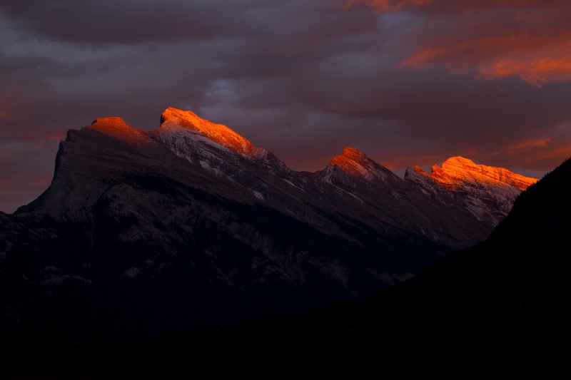 Last Light On Mt. Rundle