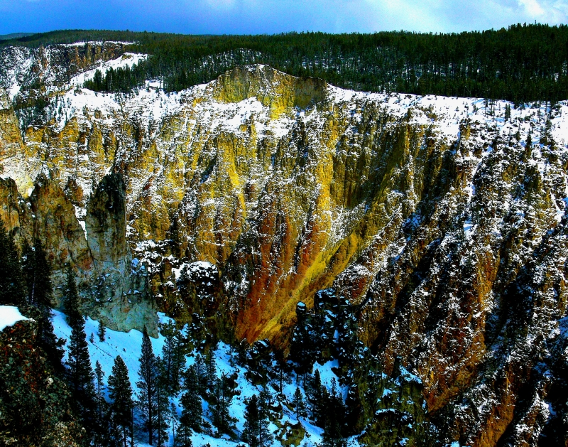 Grand Canyon In Yellowstone Np