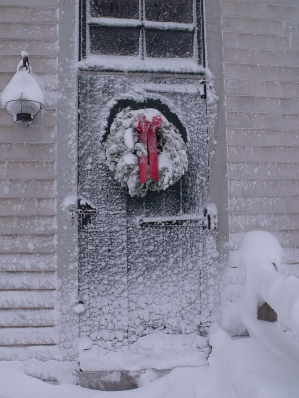 Snow Blown Door