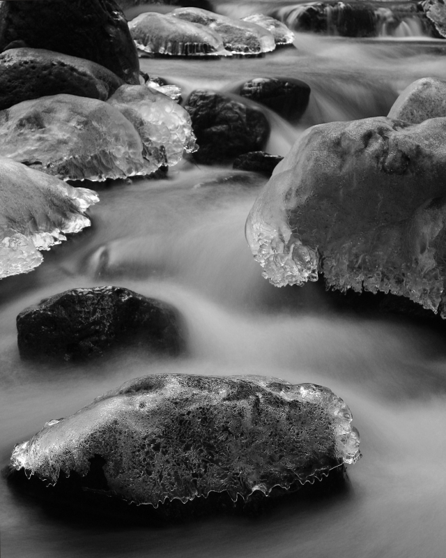 Winter River Rocks