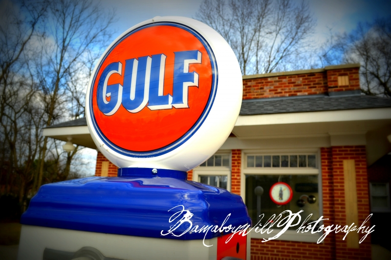 Old Gulf Station In Athens Alabama