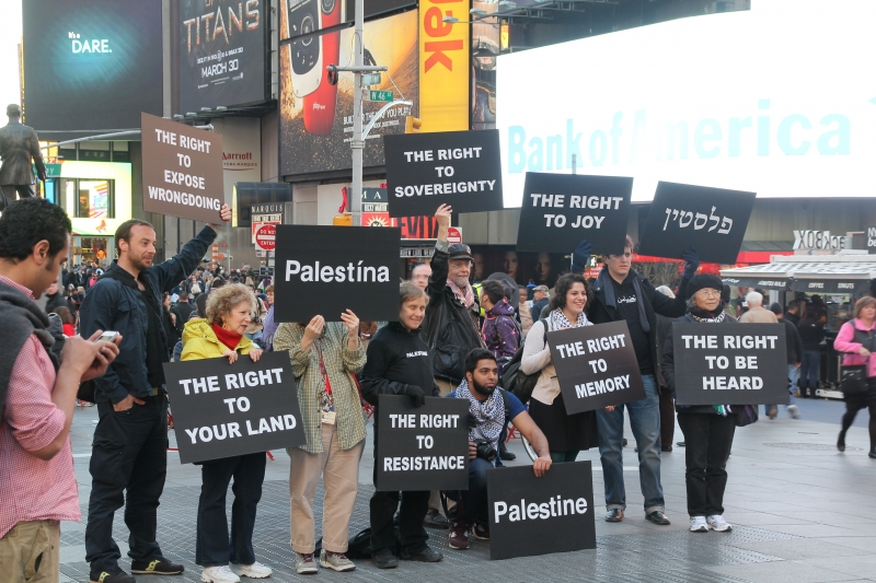 Protest In Time Square