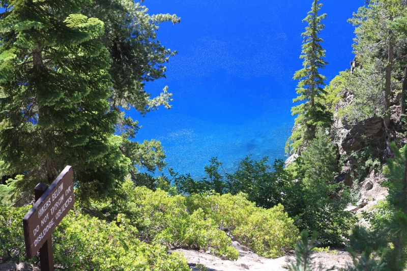 Clear Blue Waters Of Crater Lake