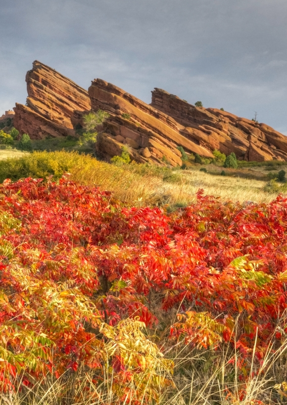 Red Rocks In Fall