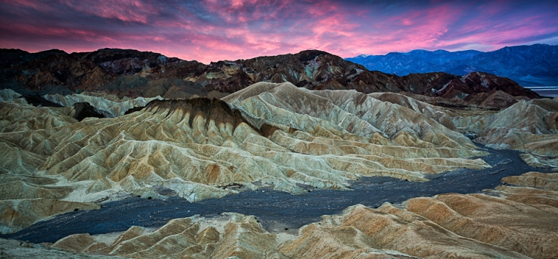 Pink Clouds Over Zabriskie Point