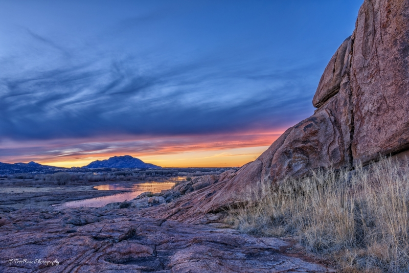 Sunset View From Granite Dells To Granite Mountain.