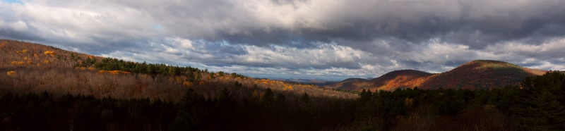 Adirondack Fall:  Three Brothers And Sky