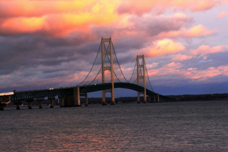 Sunset At Mackinaw City