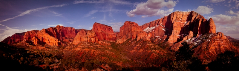 Kolob Canyon Sunset Panorama