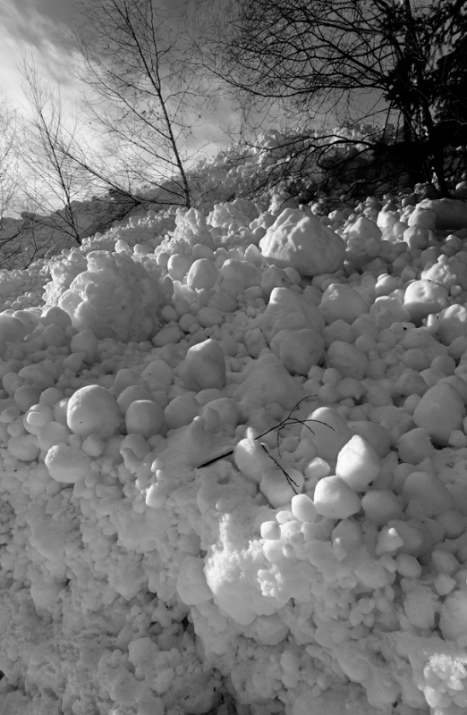 Avalanche In Winter.