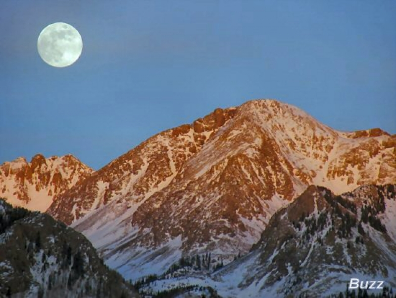 Full Moon Over The Rockies