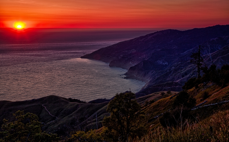 Sun Setting On Big Sur