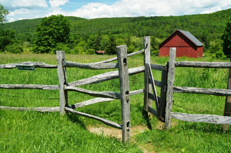 Gate And Red Barn