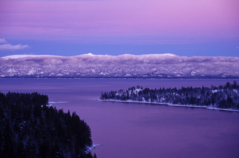 Sunset Glow Over Lake Tahoe