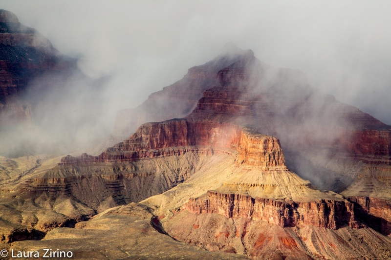 Grand Canyon In Clouds