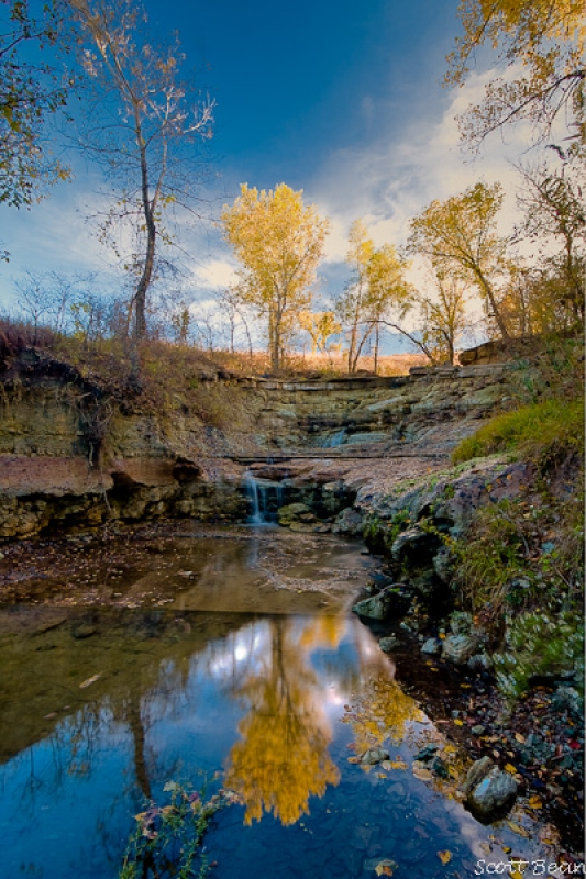 Chase County Falls In Autumn