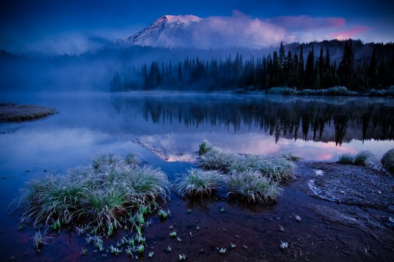 Mt Rainier And Reflection Lake