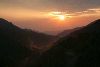 Sunset Over The Great Smoky Mountains