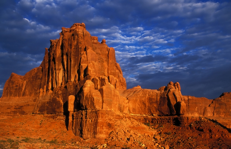 Courthouse Towers At Arches National Park