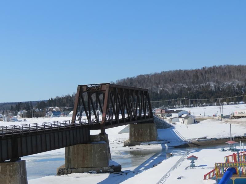 Railway Bridge In Port Daniel, Quebec.