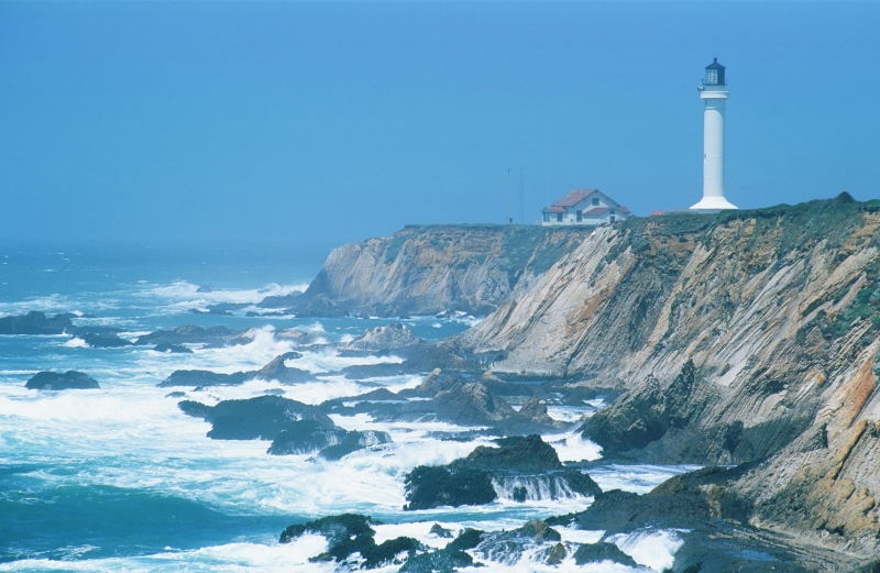 Lighthouse On California Coast
