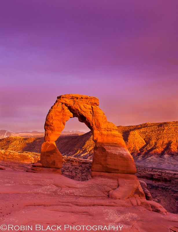Stormy Delicate Arch At Sunset (arches National Park)