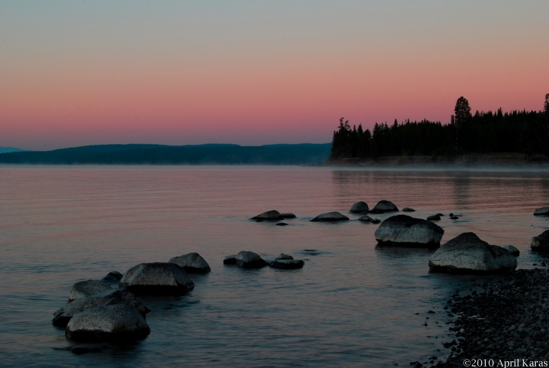 Sunrise On Yellowstone Lake