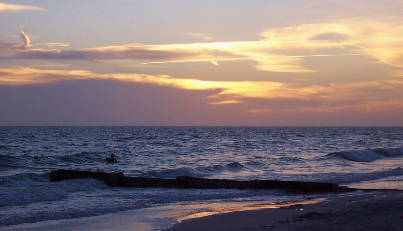 A Sunset View Of The Gulf Of Mexico