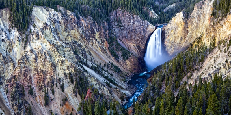 Yellowstone Lower Falls From Lookout Point