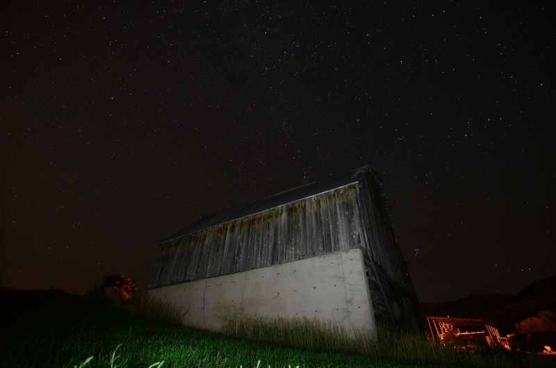 Stars Over The Old Barn.