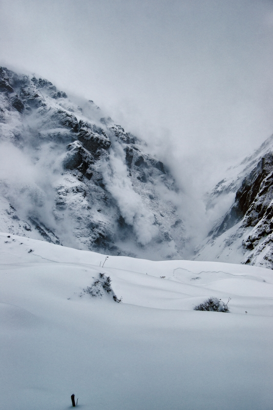 Avalanche In The Himalayas