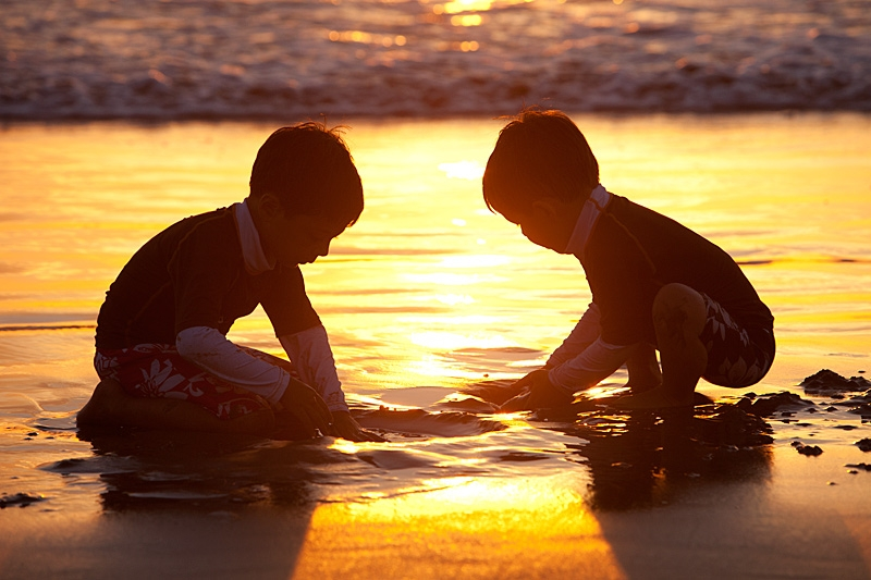 Two Boys At The Beach