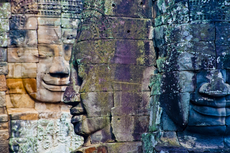The Bayon Heads