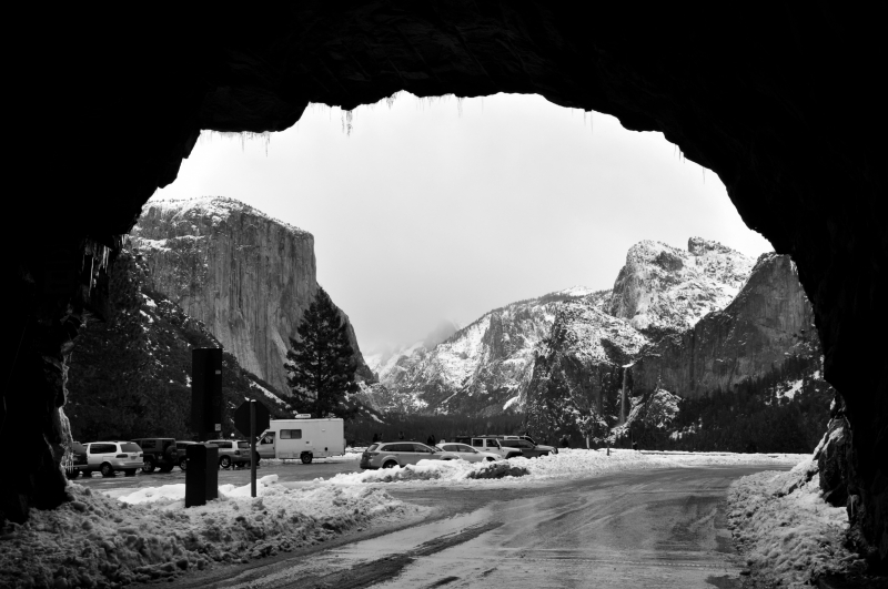 Wawona Tunnel View In Winter