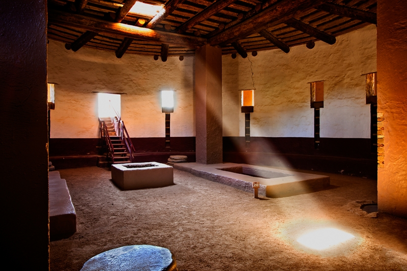 Great Kiva And Sunbeam, Aztec Ruins National Monument