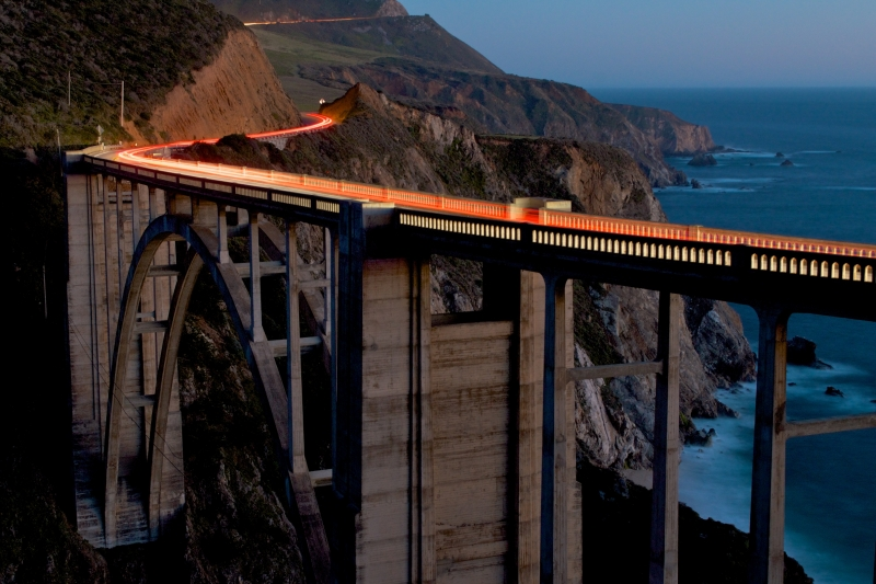 Bixby Bridge At Dusk